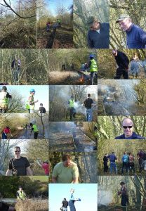 Montage of the work done on the Saturday